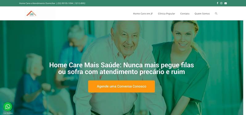 Site Home Care Mais Saúde