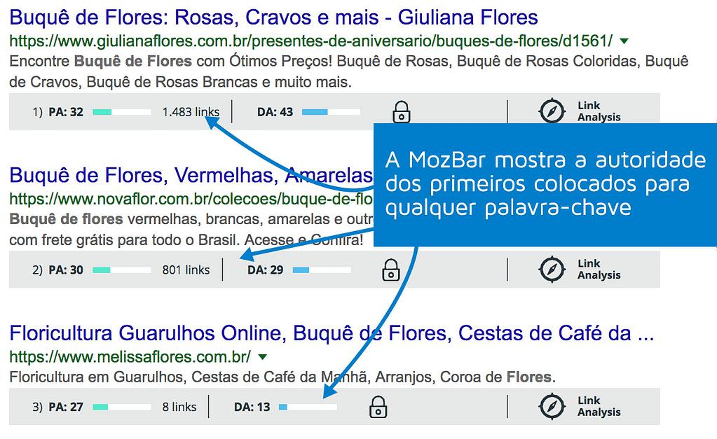 Como aparecer no Google - MozBar