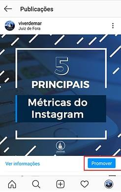 Promover Post no Instagram