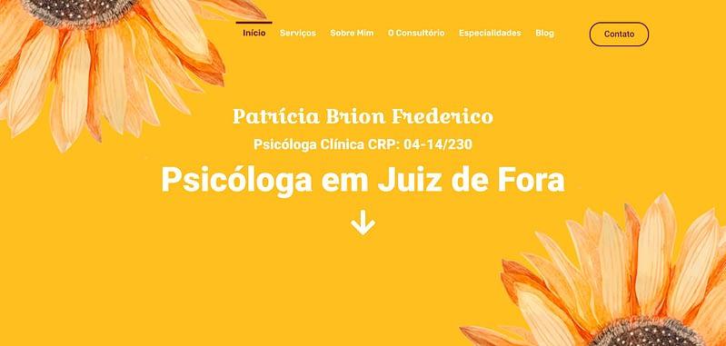 Criação de Site Patrícia Brion